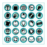 Colored Icon Set 3 - Version4 Royalty Free Stock Images