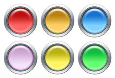 Colored icon set. Blank colored icon set on white background stock illustration