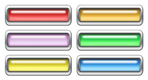 Colored icon set. Blank colored icon set on white background royalty free illustration