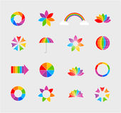 Colored icon set. In  format on gray background Royalty Free Stock Photography