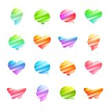 Colored icon set Royalty Free Stock Photos