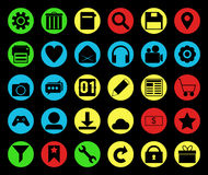Colored icon set. For website Stock Photos