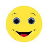 Colored icon smile emotion yellow on a white background. Stock Photos