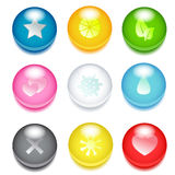 Colored icons Stock Photography