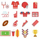 Colored icons for American football Royalty Free Stock Photography
