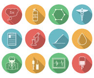 Colored icons for anesthesiology Stock Photo