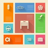 Colored icons for auto repair with place for text Royalty Free Stock Photos