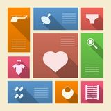 Colored icons for baby shop with place for text Royalty Free Stock Images