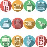 Colored icons collection for gynecology Stock Photography