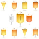 Colored icons collection of  pennant Stock Photos