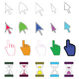 Colored icons cursor #1 Royalty Free Stock Images