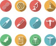 Colored icons for genetics Royalty Free Stock Images