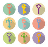 Colored   icons of keys Stock Image