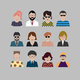 Colored icons people Stock Photos