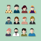Colored icons people Royalty Free Stock Photos