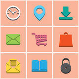 Colored icons. set 2 Royalty Free Stock Photo