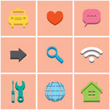 Colored icons. set 1 Royalty Free Stock Images