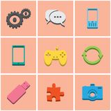 Colored icons. set 3 Royalty Free Stock Photography