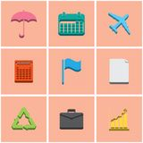 Colored icons. set 4 Stock Images