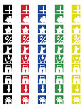 Colored icons 1 Royalty Free Stock Photo