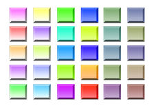 Colored icons on white background Royalty Free Stock Photo