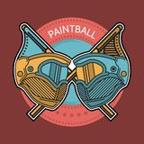 Colored illustration of paintball emblem Royalty Free Stock Image
