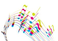 Colored illustration with tunes. Vector art Royalty Free Stock Photo