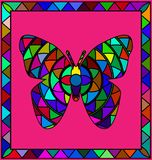 Colored image of butterfly. Abstract colored background image of butterfly consisting of lines and figures Royalty Free Stock Photography