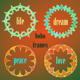 Colored indian circle vector ornaments. Stock Image