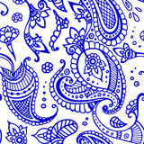 Colored indian paisley pattern Royalty Free Stock Images