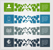 Colored infographic banners Stock Photography