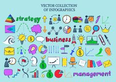 Colored Infographic Business Icons Collection Royalty Free Stock Images