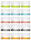 Colored information banners. Webdesign templates stock illustration