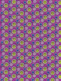 Colored Ink Dots on Purple Royalty Free Stock Image