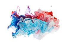 Colored ink isolated on white background Stock Photos