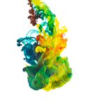 Colored ink isolated on white background Royalty Free Stock Image