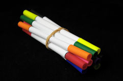 Colored Ink Markers Royalty Free Stock Images