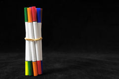 Colored Ink Markers Royalty Free Stock Image