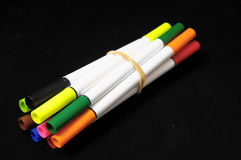 Colored Ink Markers Royalty Free Stock Photography
