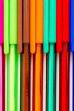 Colored ink pens Stock Photos
