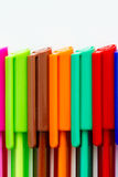 Colored ink pens Royalty Free Stock Image