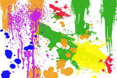 Colored Ink splashes. Stock Photos