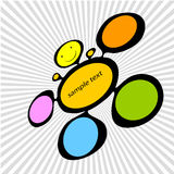 Colored ink spot Royalty Free Stock Image