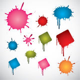 Colored ink spots Royalty Free Stock Image