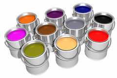 Colored inks (3D) Stock Photo