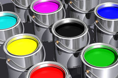 Colored inks (3D) Stock Images