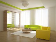 Colored interior concept Stock Photography