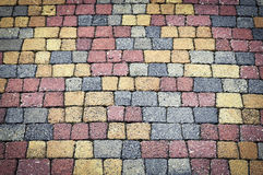 Colored interlocking paving. Background or texture colored interlocking paving Royalty Free Stock Images