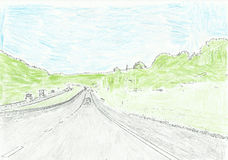 Colored Interstate Picture. This is a colored picture of Interstate 81 near Atkins, Virginia Stock Images