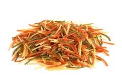 Colored Italian pasta (vermicelli) Stock Image
